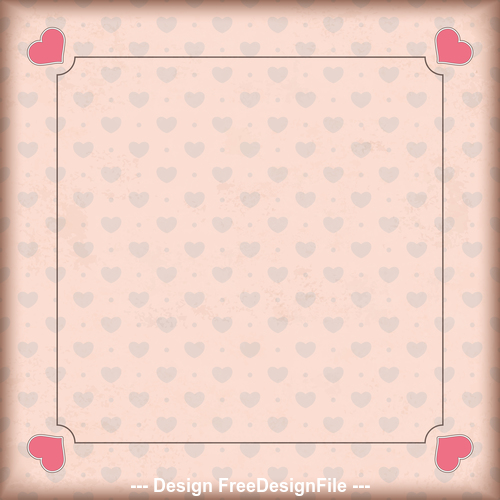 Vintage Cover 4 Hearts Retro Frame vector