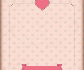 Vintage Cover Heart Ribbon vector