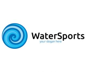 Water sports logo vector