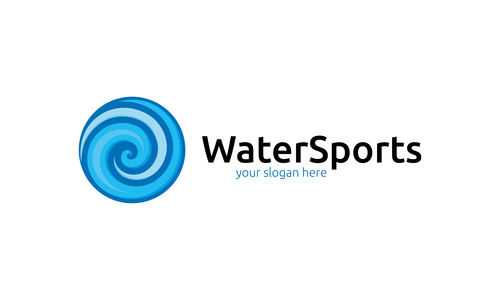 Water sports logo vector