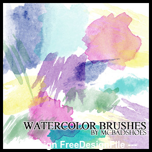 Watercolor grunge Photoshop Brushes