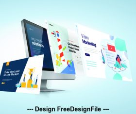 Website design development template vector