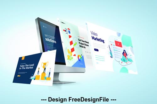Website design development template vector