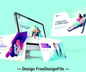 Website design template vector illustration concept