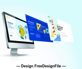 Website design vector illustration concept
