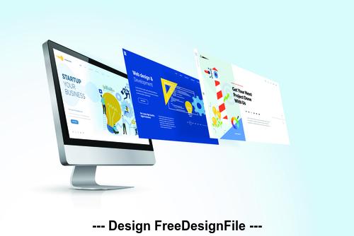 Website design vector illustration concept