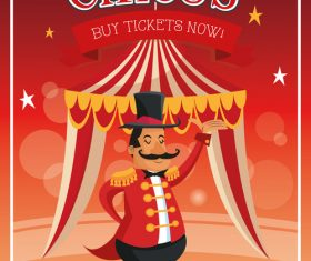 Welcome to the circus poster vector