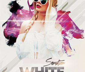 White Sensation Party Flyer Design PSD Template