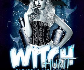 Witch Hunt Halloween Party- Flyer PSD Template