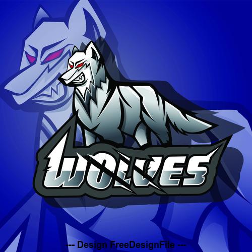 Wolves logo vector design
