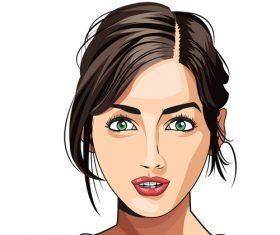 Woman face illustration vector