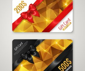 Yellow and black VIP gift card vector