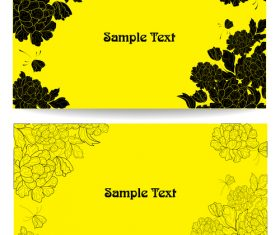 Yellow background card and flower vector