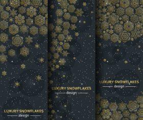 luxury flakes design vector