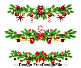 2020 Christmas day decorative wreath template vector 03