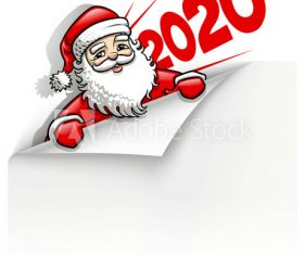 2020 New Year Santa Claus background vector