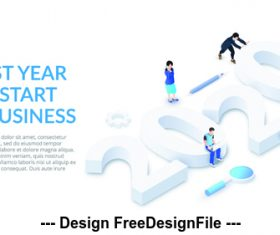 2020 new year business concept illustration vector