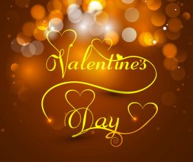 Abstract golden glitter valentine background vector
