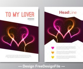 Abstract heart poster vector