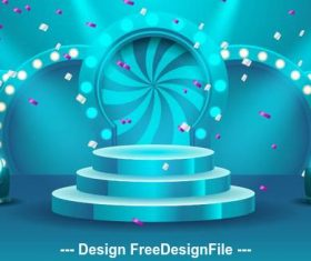 Abstract round podium backgrounds vector