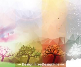 Abstract sky and natural scenery view vector