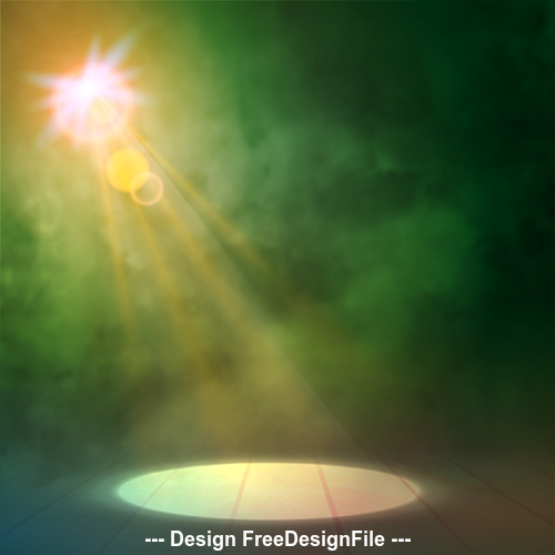 Abstract stage lights vector