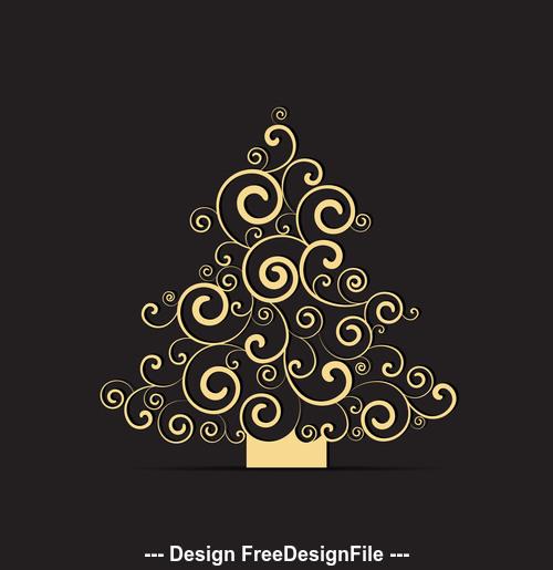 Abstract tree illustration vector