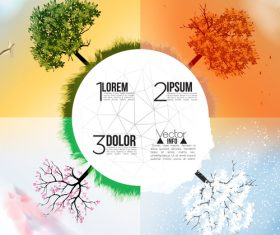Abstract trees and seasong lobe vector