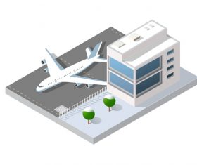 Airport cartoon vector