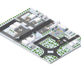 Airport module cartoon vector