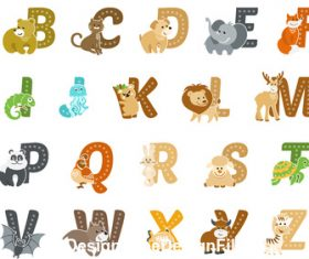 Animal and alphabet vector