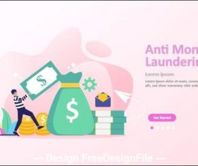 Anti money laundering cartoon illustration vector