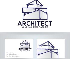 Architecture company logo vector