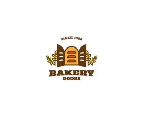 Bakery doors mascot esport logo vector