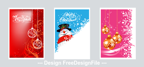 Beautiful christmas card element vector