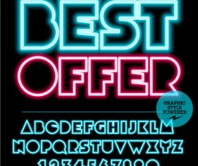 Best offer color alphabet vector