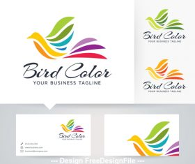 Bird color logo vector