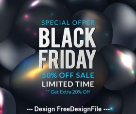 Black friday special offer sale poster vector