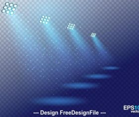 Blue background and spotlight vector