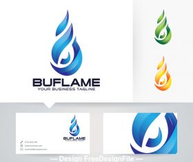 Blue flame logo vector