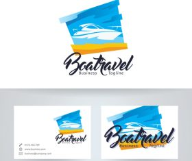 Boat travel logo vector