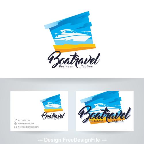 Boat travel logo vector