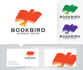 Book bird logo vector