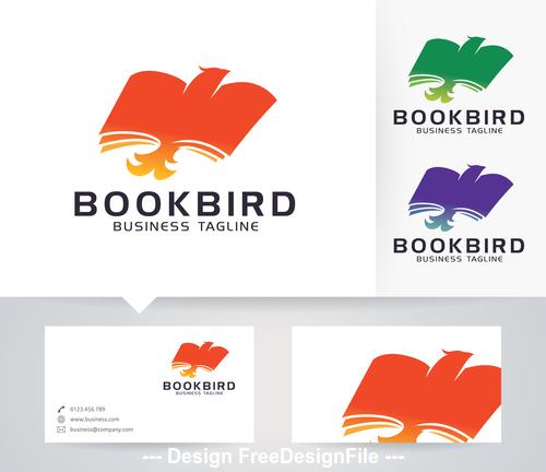 Book bird logo vector