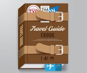 Book travel information vector