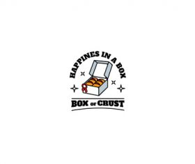 Box of breads mascot esport logo vector