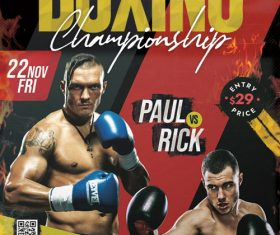 BoxingTournament Poster PSD Template