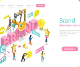 Brand awareness campaign concept illustration vector