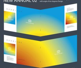 Brochure Annual 01 Innovation design layout vector