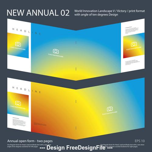 Brochure Annual 01 Innovation design layout vector